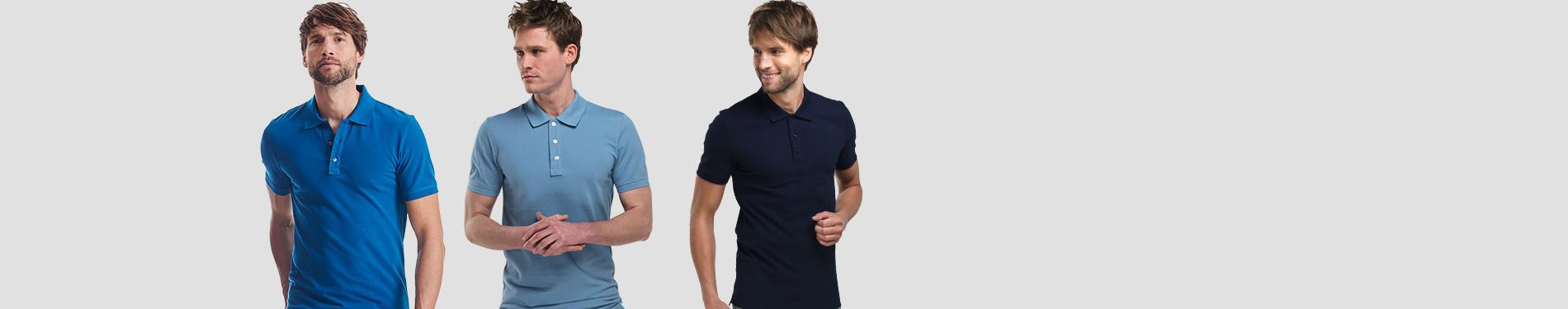 Blue Poloshirts