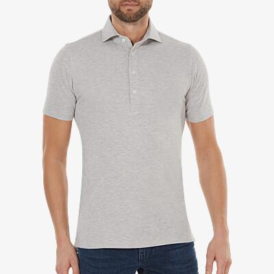 Lagos Poloshirt, Grey melange