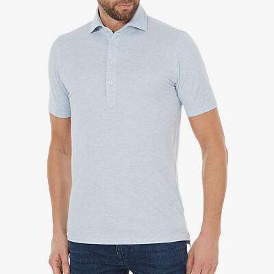Lagos Poloshirt, Light blue melange