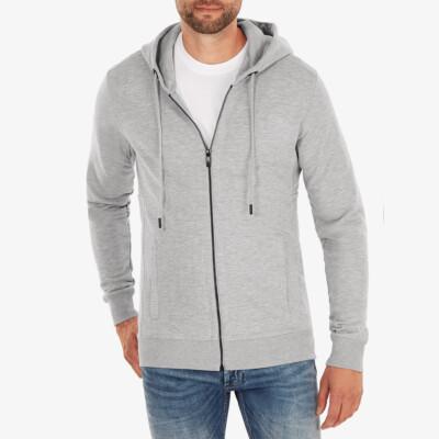 Denver Full Zip hoodie, Grey melange