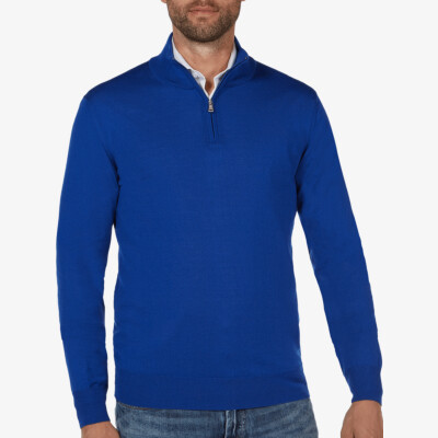 Aspen Half Zip, Bright Royal