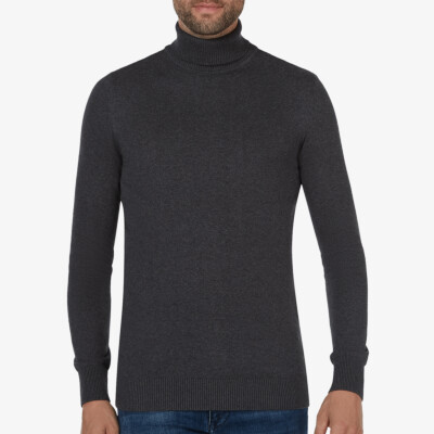 Hamilton Turtleneck, Anthracite Melange