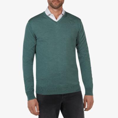 Kingston v-neck pullover, Green