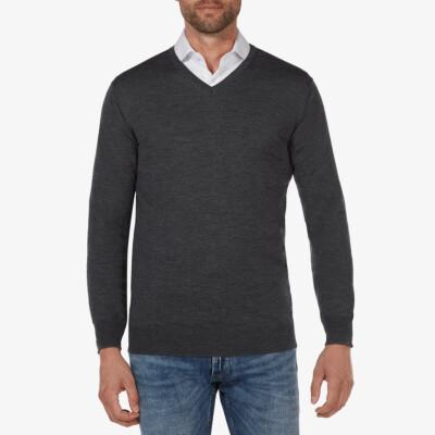 Kingston v-neck pullover, Anthracite