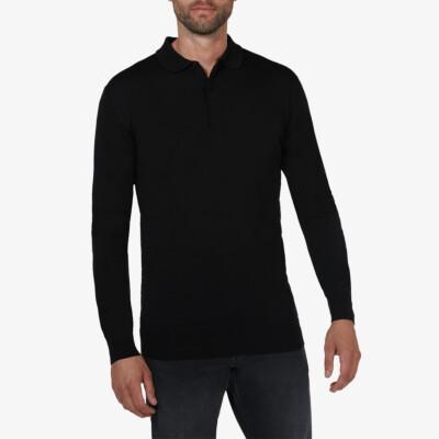 Wellington polo pullover, Black