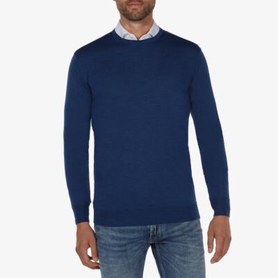 Ontario Crewneck pullover, Jeans blue