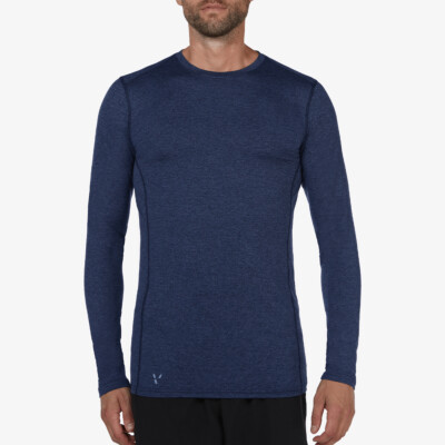 St. Anton Thermoshirt, Estate blue melange