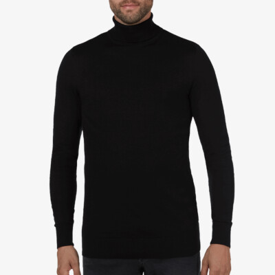 Bari Light turtleneck, Black