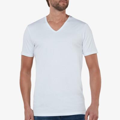 lang-tshirt-v-hals-new-york-wit-2-pack