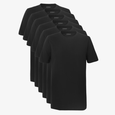 SixPack Sydney Heavy T-shirts, 6-pack Black