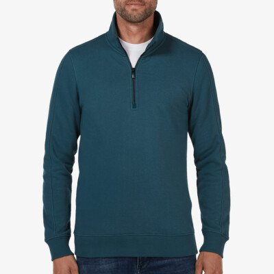 Yale Half Zip, Deep green