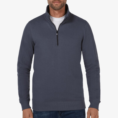 Yale Half Zip, Stone blue