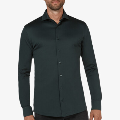 Bergamo jersey shirt, Dark green