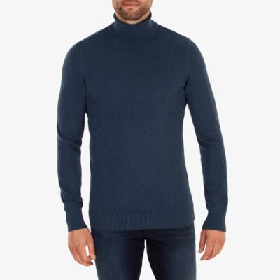 Hamilton Turtleneck, Dark jeans melange