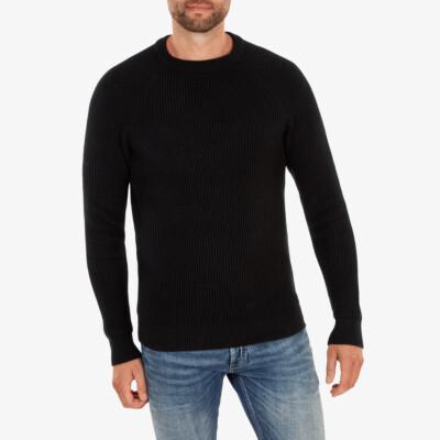 Helsinki heavy knit Pullover, Black
