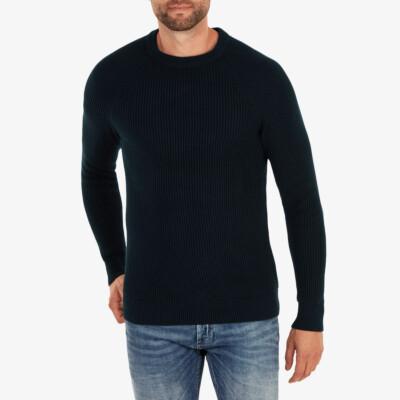 Helsinki heavy knit Pullover, Navy