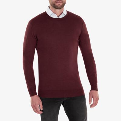 Ontario Crewneck pullover, Bordeaux melange