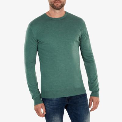 Ontario Crewneck pullover, Green melange