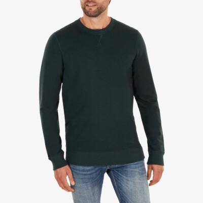 Long shadow green crew neck regular fit Girav Princeton Light sweater for men