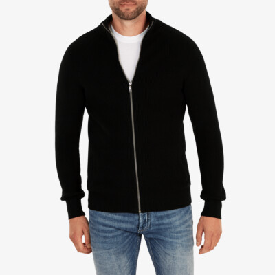 Stockholm heavy knit Cardigan, Black